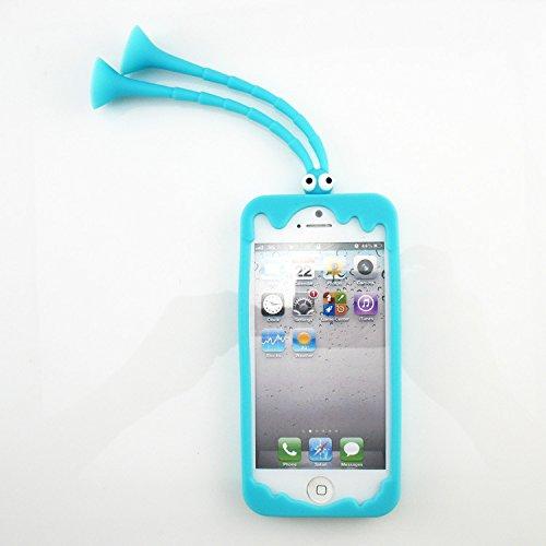 Coque iPhone 6 Plus/6s Plus , iNenk® Sauterelle Silicone Corée frontière téléphone Shell manchon protecteur ensembles femmes soutien TPU Mous Mode affaire-Rose rouge Bleu