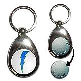 Lightning Bolt Blue - Golf Ball Marker Key Ring