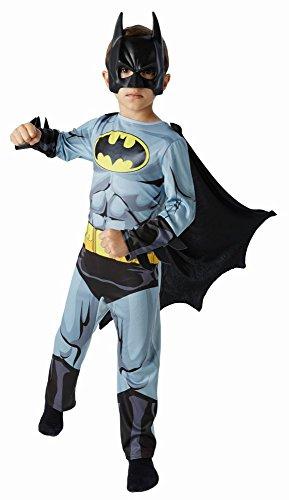 DC Comics Kinder Kostüm Batman mit Maske Gr.S(4-6J.)