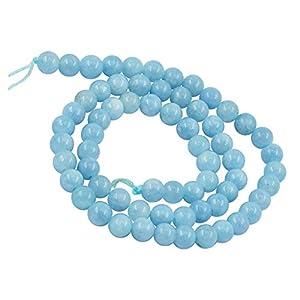 B Baosity Mini Perline Perle Natural Jade Stone Rotonde Per Gioielli Fai da Te Collane Braccialetti Bigiotteria Dia.10mm - 6 millimetri