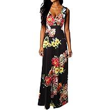 Maxi vestito da donna Bohemian Abito lungo da spiaggia estiva Abito da  cocktail partito floreale vestiti a7fbc51babb