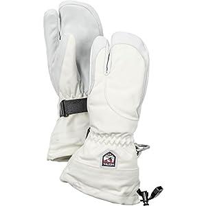 Hestra Skihandschuhe für Damen, bei kaltem Wetter, DREI-Finger-Handschuhe aus Leder