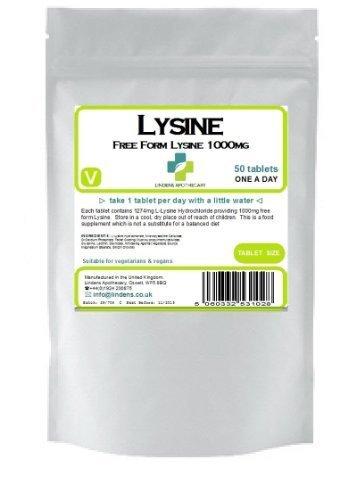 Lysine 1000 mg une par jour 50 comprimés (L-lysine)