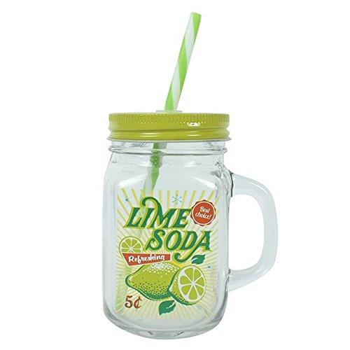 Lime Soda Mason Trinken Jar