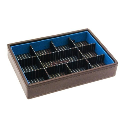 Preisvergleich Produktbild Herren Braune Manschettenknöpfe Aufbewahrung Box