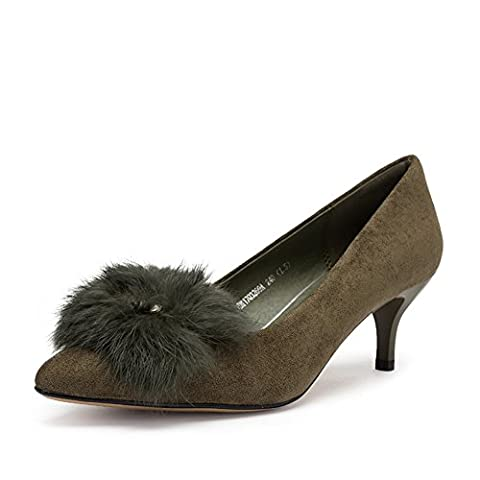 ladies high heels,chaussures pointues d'orteil-B Longueur du pied=21.8CM(8.6Inch)
