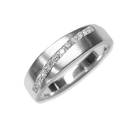 Schmuck-Pur Echt 925/- Silber Damen-Ring mit 12 Zirkonia (Größe 20)