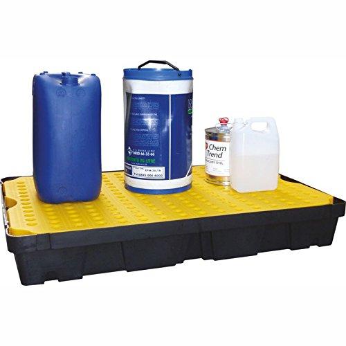 Extra Large in plastica rigida Spill/vassoio antigoccia con rimovibile superficie Griglie, Capacità di 100litri