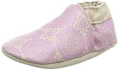 Robeez  Graphic lace, Chaussures souples pour bébé (fille) - Rose - Pink (pink/beige 133), 23/24 EU