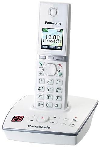 Panasonic KX-TG8061GW Telefon schnurlos mit Anrufbeantworter (1 Mobilteil) weiß