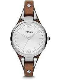 Fossil - ES3060 - Montre Femme - Quartz Analogique - Bracelet Cuir Marron