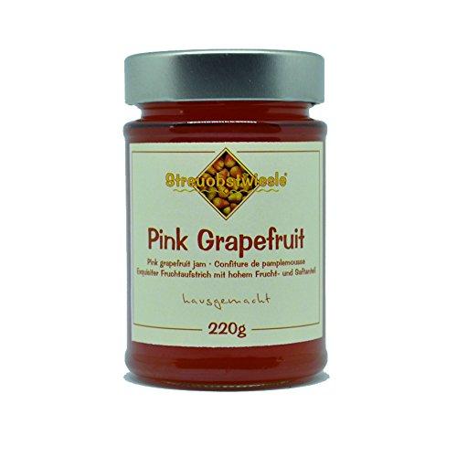 Streuobstwiesle Pink Grapefruit Marmelade - 220 g - Exquisite Pink Graoefruit Marmelade - mit hohem Fruchtanteil