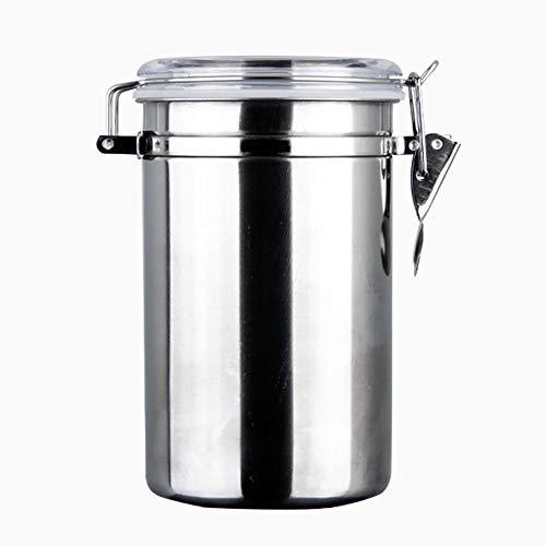Bbacb Edelstahlbehälter luftdicht für Kaffee, Tee, Nüsse und Pulver xl siehe abbildung