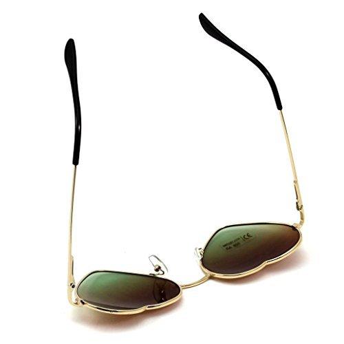 Fhouses 1 × Gro?e übergr??e Damen Herz Form Sonnenbrille Modisch Niedlich Brille Sport- und Skibrillen (braun)