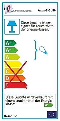 Set Bad Einbaustrahler IP65 Farbe: Chrom, 5Watt - 450Lumen LED Leuchtmittel warm-weiss GU10 230Volt, Für Bad, Sauna, Dusche, Vordach, Keller uvm...