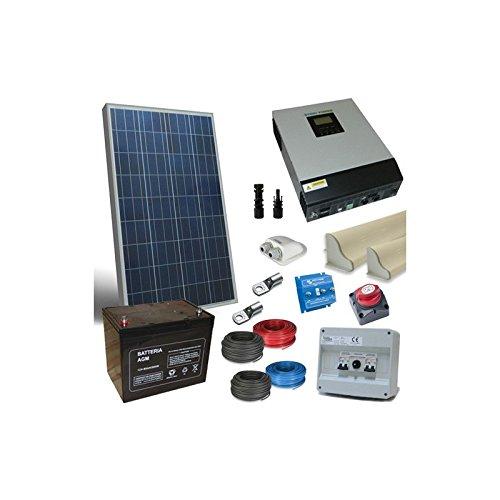 Kit solar para los 130W 12V más panel accesorios inversor 1200W 12VCon este práctico kit puedes instalar en tu furgoneta con una sencilla instalación en medida de satisfacer sus necesidades energéticas, y todo el partido de la energía solar.Se d...