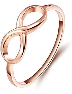 925er Silber Rose Gold Infinity