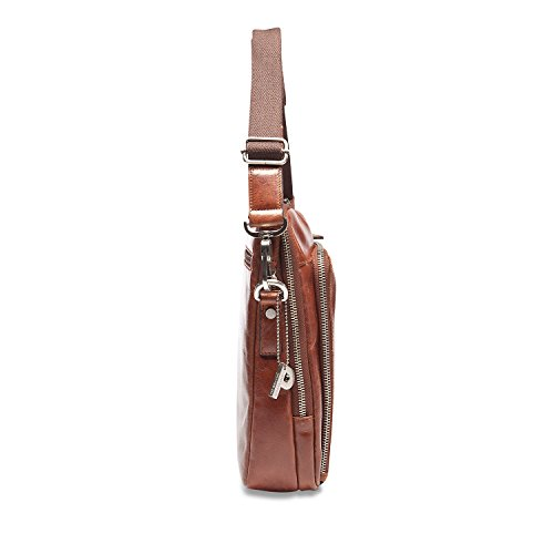 Picard Buddy borsa a tracolla pelle 23 cm graphit Cognac (Marrone)