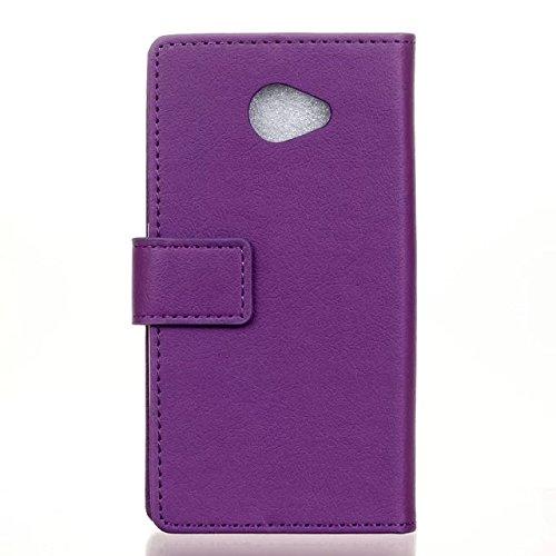 LG K5 Case, Einfarbig Kas Textur Muster Leder Schutzhülle Case Horizontal Flip Stand Hülle mit Kartensteckplätzen für LG K5 ( Color : Red , Size : LG K5 ) Purple