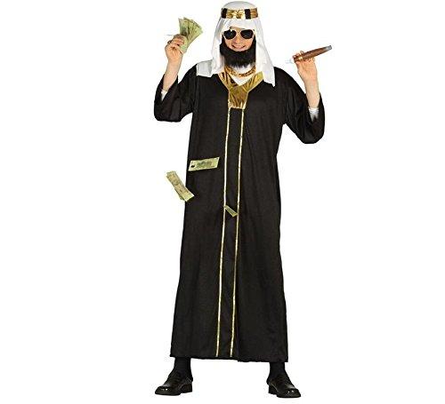 Öl Scheich Araber Karneval Motto Millionär Party Kostüm für Herren Wüste Orient Gr. M-XL, ()