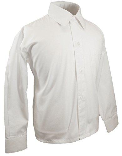 Paul malone camicia da ragazzo / camicia da bambino festosa bianco