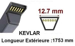 Teknic - Courroie 4L690 - L469 - 48X690 - 4L69 - 6869 Renforcée Kevlar