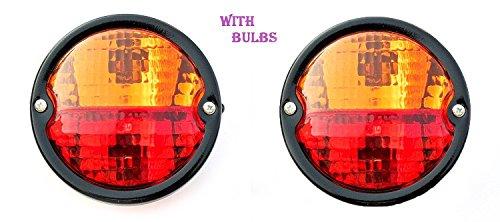 Bajato 2 x Vintage Rücklicht Lampe mit Lizenz Platte Fenster Traktor Trailer Truck 12 V -11000801 A -