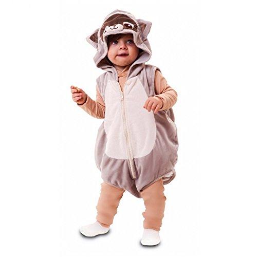 Fyasa 706535-tbb Waschbär Kostüm Overall mit Kapuze, Small (Waschbär Kostüm Kinder)