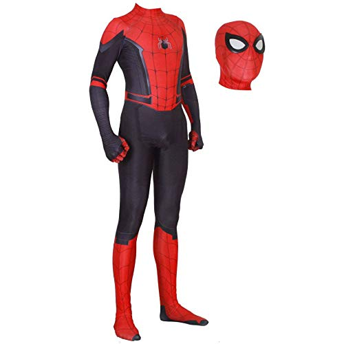JUFENG 3D Spider-Man Strumpfhose Digitaldruck Spandex Dress Up Zentai Realistische Comics Halloween Cosplay Kostüm,A-Child/L