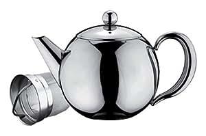 Belmont Deluxe en acier inoxydable Tea Pot, Acier inoxydable, Stainless Steel Handle, 500ml