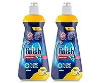 Finish Dishwasher Rinse Aid Lemon 400ml - Pack of 2