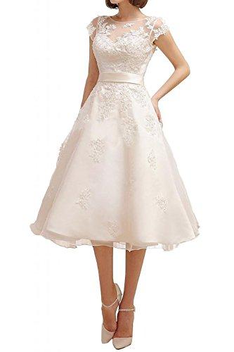 Find Dress Robe de Soirée Longue pour Mariage Femme Fille Enfant Cérémonie Robe de Mariée Dentelle Blanche Courte Lacet en Organza avec Broderie Floral Robe Demoiselle d'Honneur Grande Taille Ivoire