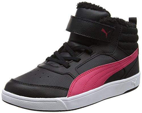 Puma Unisex-Kinder Rebound Street v2 fur V PS Sneaker, Schwarz (Black-Love Potion), 35 EU (Street-sport-schuh)