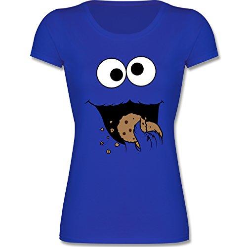 Kinder - Keks-Monster - 164 (14-15 Jahre) - Royalblau - F288K - Mädchen T-Shirt (Mädchen Cookie Monster Kostüme)