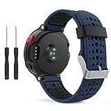 kitway Forerunner 235 Bracelet de Montre, Bracelet de Montres Remplacement Bande en Silicone avec Outils pour Forerunner 235/220/230/620/630/735XT Montre de Running GPS