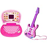 A R Enterprises Musical Guitar with Learning Laptop