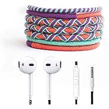Crossloop Designer Series 3.5mm Universal In-Ear Headphones With Mic And Volume Control (Sea Green, Purple & Reddish Orange Combination)