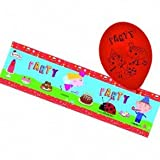 Official Ben and Holly Party Foil Banner and Balloons set by Ben & Holly