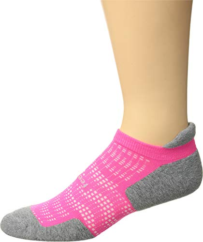 Feetures - High Performance Cushion - No Show Tab - Athletic Running Socks for Men and Women - Pink Pop - Size Mittel