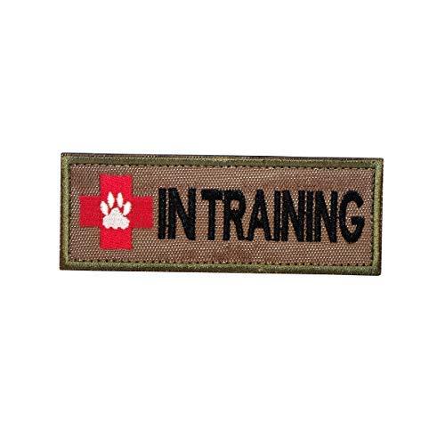 Cobra Tactical Solutions Besticktes K9 Hund IN Training Patch mit Klettverschluss für Cosplay/Airsoft/Paintball für Taktischen Rucksack Kleidung