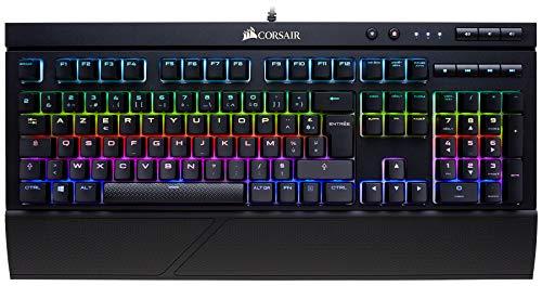 Corsair K68 RGB Clavier Mécanique Gaming (Cherry MX Red, Rétro-Éclairage RGB Multicolore, Étanche et Résistant à la Poussière, AZERTY) Noir