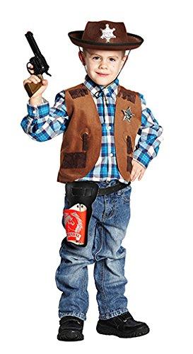 Rubie's NEU Kinder-Kostüm Sheriff-Weste, braun, Gr. 116