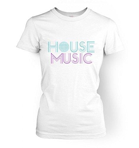 House Music Ladies T-shirt Weiß