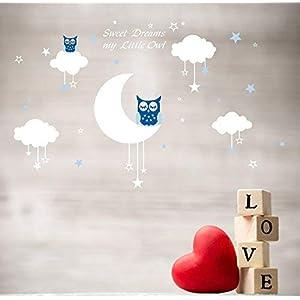 Bdecollsweety-dreams-my-litter-owlVinilo-decorativoAdhesivo-mural-decorativo-de-vinilovinilo-Natural-Tema-pared-arte-beb-guardera-adhesivo