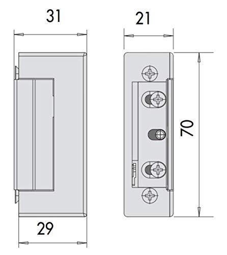 Incontro elettrico cisa art. 15160000 per serrature da infilare ambidestro frontale intercambiabile tensione 12 v ca ce con antiripetitore interno.
