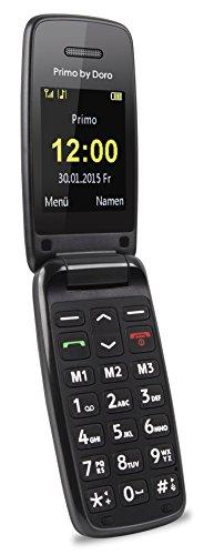 Doro Primo 401 2  115g Negro Tel  fono B  sico - Tel  fono M  vil  Concha  SIM   nica  5 08 cm  2    Bluetooth  500 mAh  Negro
