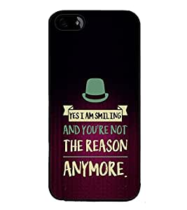 Fuson Yes Iam Smiling Designer Back Case Cover for Apple iPhone 4S (Love Quotes Inspiration Emotion Care Fun Funny)
