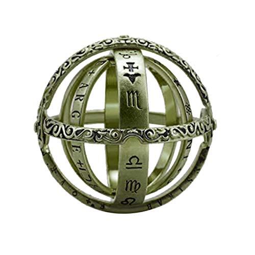 Astronomische Globus Ring, Öffnender Ring Astronomie Wissenschaft Globus Ring Astronomical Globe Ring Vintage Schmuck (Armeegrün)