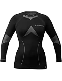 wisser Camiseta Térmica de Manga Larga Para Mujer, mujer, negro, medium, ropa interior termoactiva