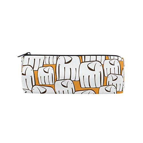 Ahomy - Estuche para lápices, diseño de elefantes, color blanco